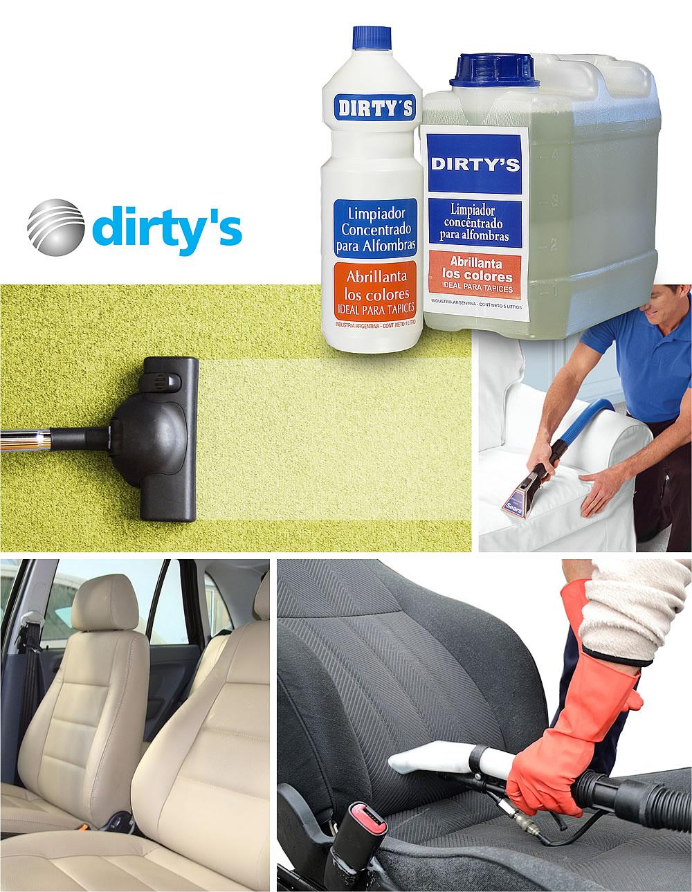 Limpiador concentrado de alfombras y tapizados dirtys - Limpiador de alfombras ...